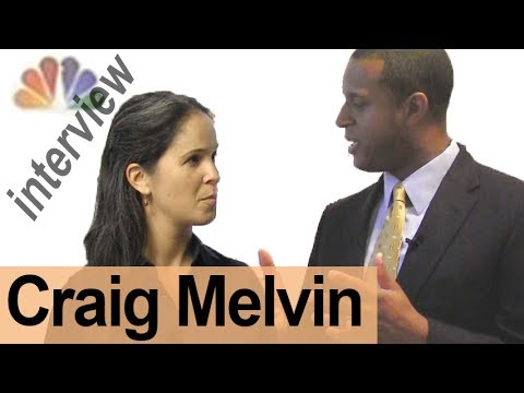 CRAIG MELVIN -- Interview a Broadcaster! -- American English Pronunciation