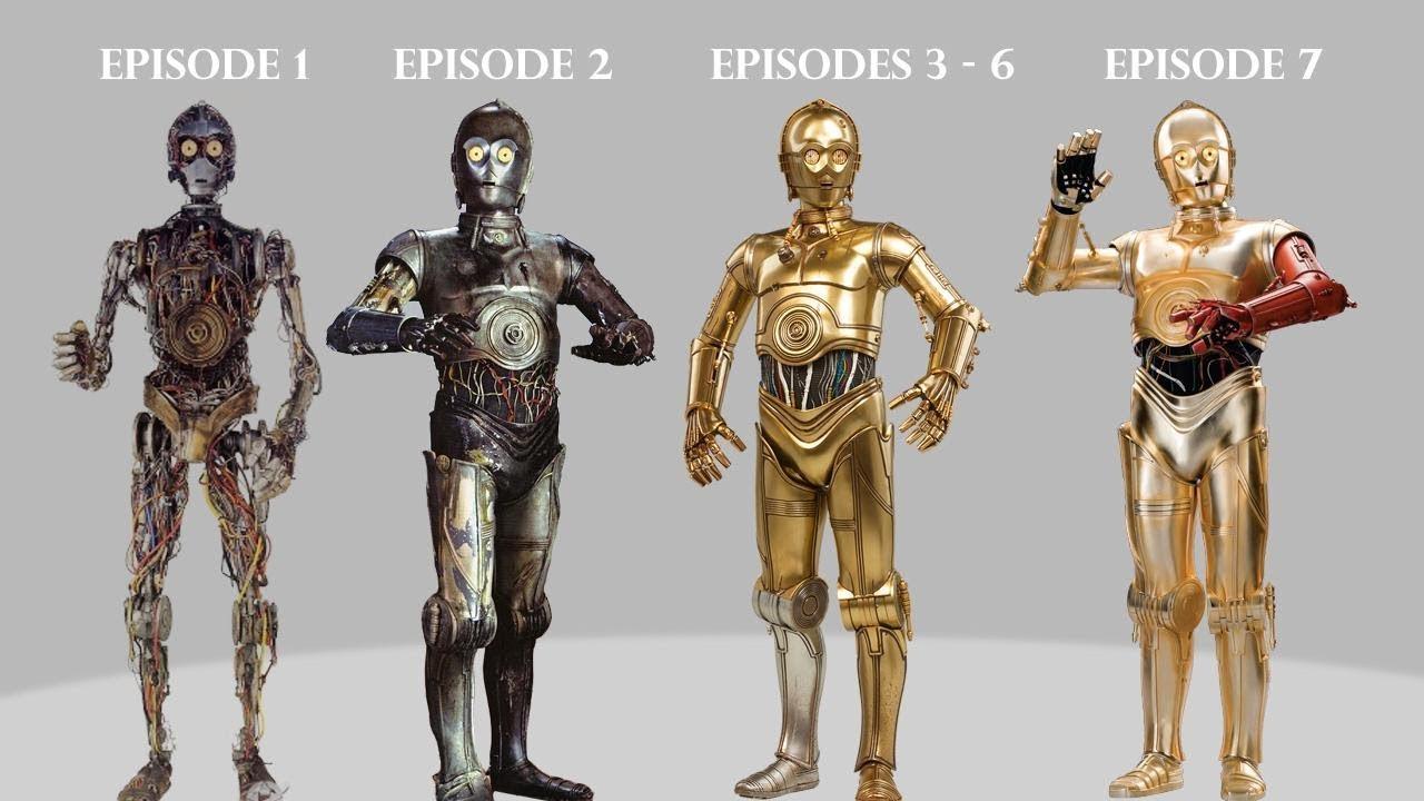 Guerre stellari: la bizzarra gamba d'argento di C-3PO