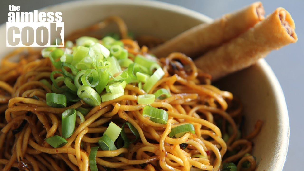 Triple Black Garlic Noodles Recipe — Dishmaps
