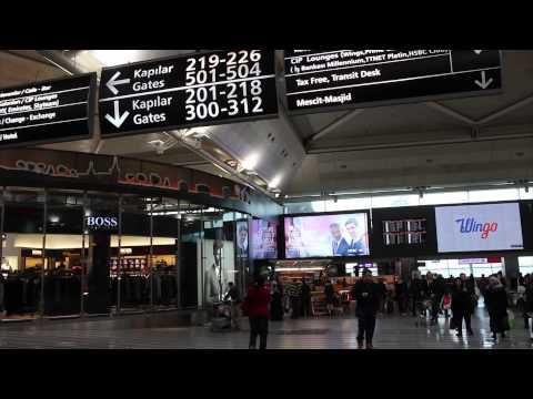 Inside Istanbul Ataturk Airport - Turkey