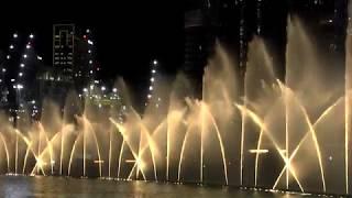 Дубайский музыкальный фонтан 2019