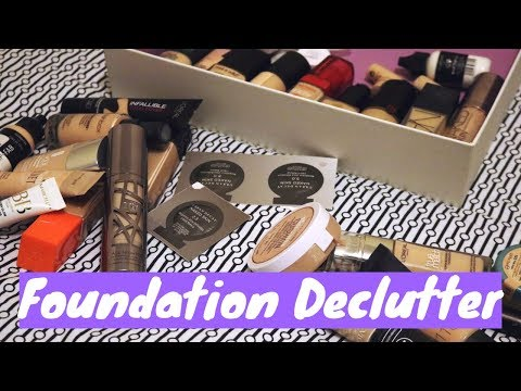 Foundation Declutter and GIVEAWAY | FREE MAKEUP