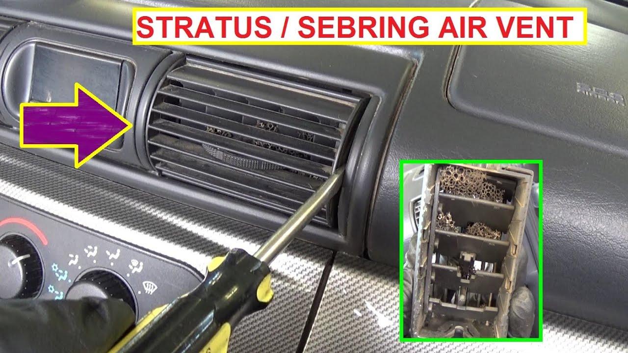 Dodge Stratus Chrysler Sebring Dash Vent Removal and