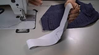 Как сделать трикотажный пояс в брюки или юбку