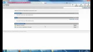 Juniper SSL VPN Appliance Initial Setup demo