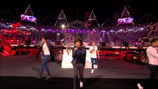 One Direction - What Makes You Beautiful Live from London 2012 Olympic Closing Ceremony 720P HD