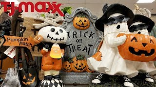 SHOP WITH ME TJ MAXX HALLOWEEN!! & FALL DECOR WALK THROUGH 2018