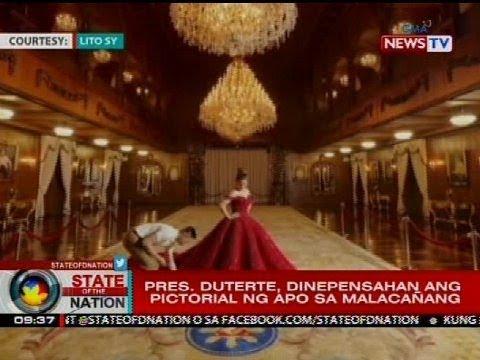 Pres. Duterte, dinepensahan ang pictorial ng apo sa Malacañang