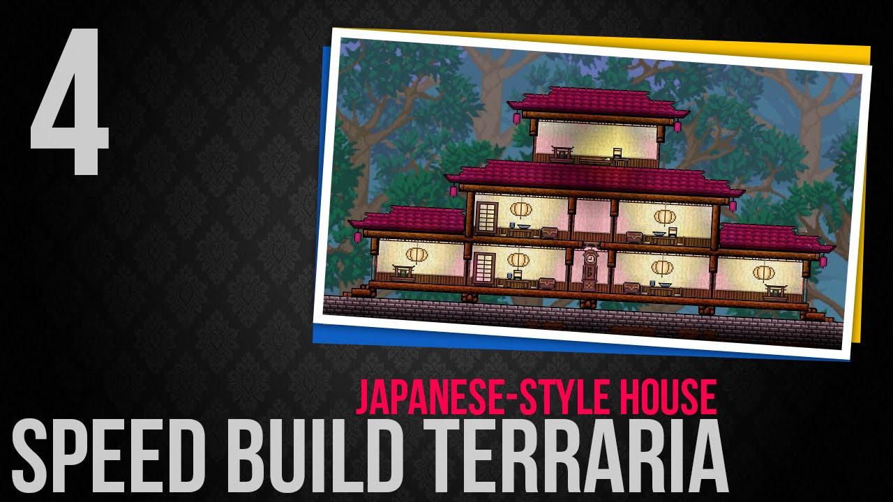 Speed Build Terraria 4 Japanesestyle house YouTube