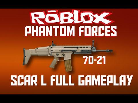 Roblox Phantom Forces Scar L Full Gameplay 70 21 Youtube - youtube videos roblox phantom forces