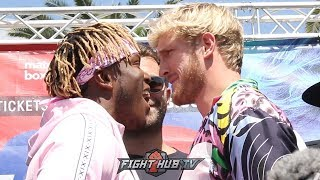 LOGAN PAUL VS KSI HEATED FACE OFF, FOR THEIR REMATCH FIGHT