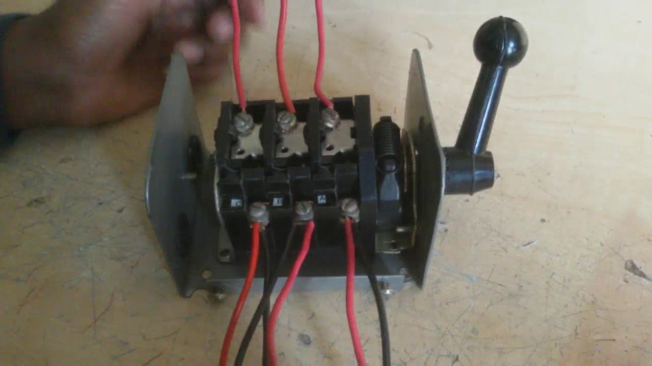 how to connect a three phase motor reverse and forward by change over switch  | - youtube