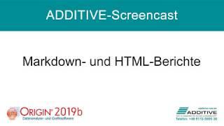 OriginLab Origin® 2019b: Erstellen von Markdown- und HTML-Berichten