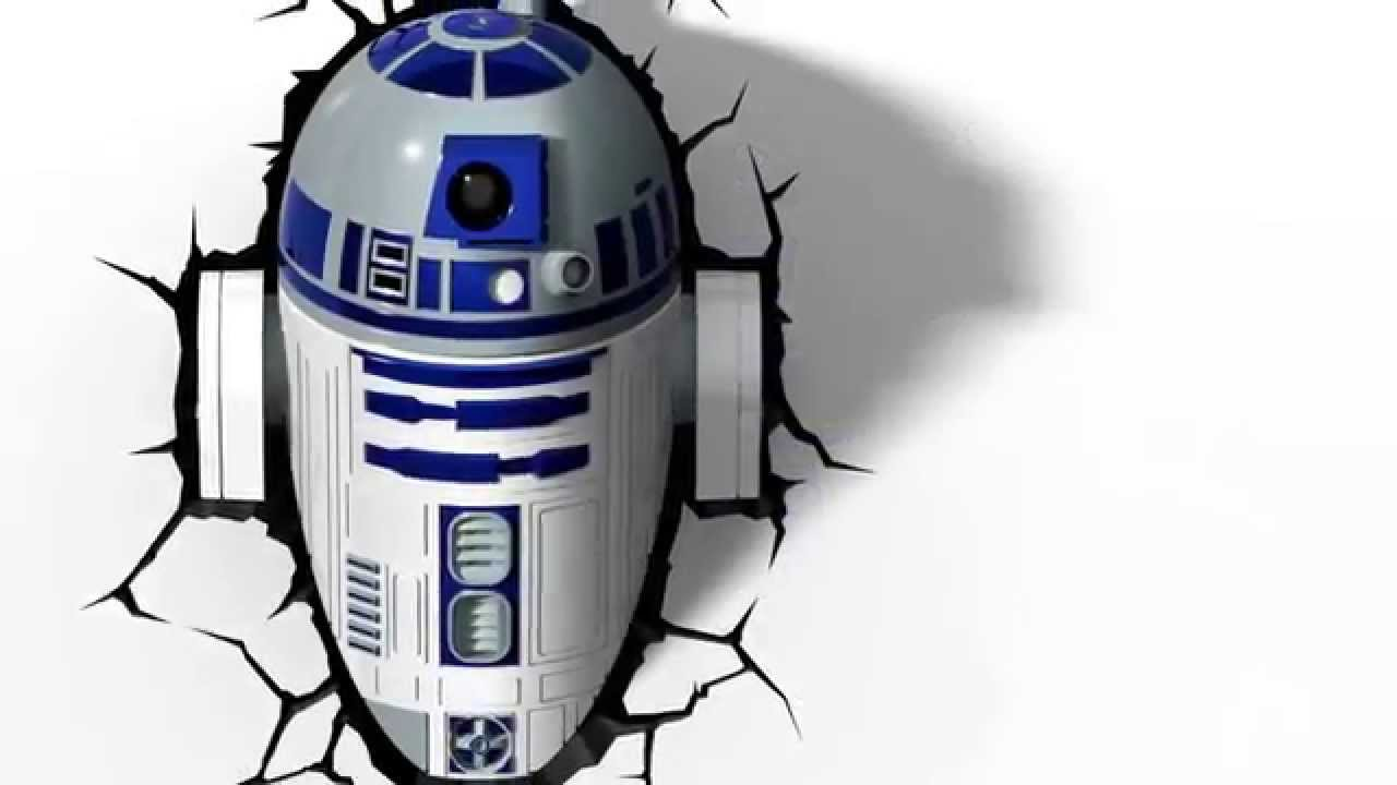 3dlightfx star wars r2d2 3d deco light youtube. Black Bedroom Furniture Sets. Home Design Ideas
