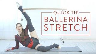 Ballet Beautiful Quick Tip - Ballerina Stretch