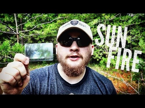 How To Start Fire With A Fresnel Lens / Magnifying Glass - Sun Magnification - Bushcraft & Survival