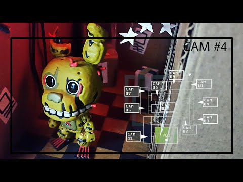 Five nights at freddy's 3 toys😍 cardboard pizzeria