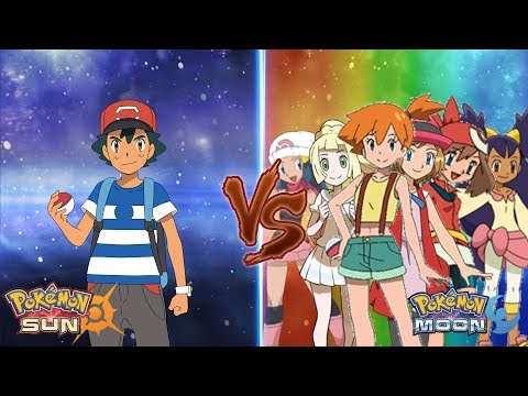 Pokemon Sun and Moon: Ash Vs Misty, May, Dawn, Iris, Serena, Lillie