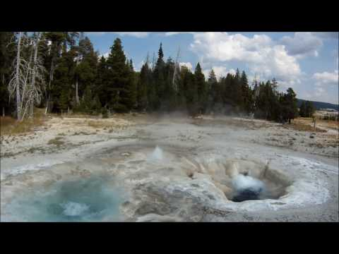 Yellowstone geysers with Beethoven's 5th Symphony. Симфония № 5 на фоне гейзеров Йеллоустоун.