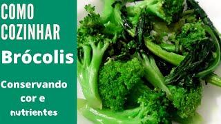 Brócolis Refogado Conservando a Cor e Nutrientes