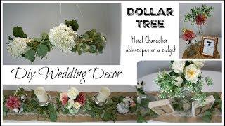 DOLLAR TREE DIY WEDDING DECOR, FLORAL CHANDELIER, CENTERPIECES | Momma From Scratch