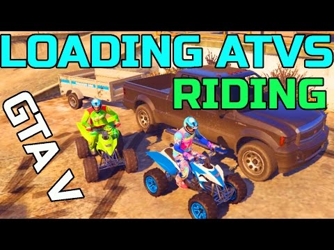 GTA V | PC | HAULING 2 ATVS IN TRUCK | + FINDING NEW TRAILS
