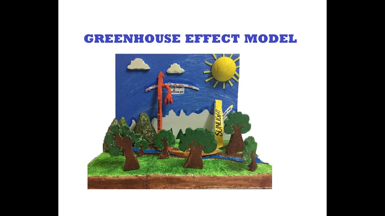 Greenhouse Effect Model School Project For Students Exhibition Models The4pillars