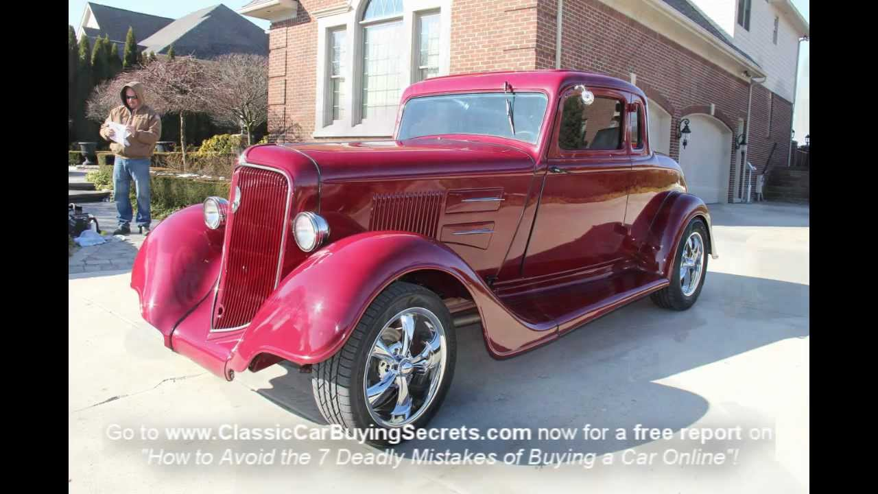 1934 Plymouth Street Rod Classic Muscle Car for Sale in MI Vanguard ...