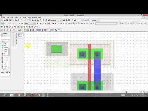 inverter layout basics using L-edit