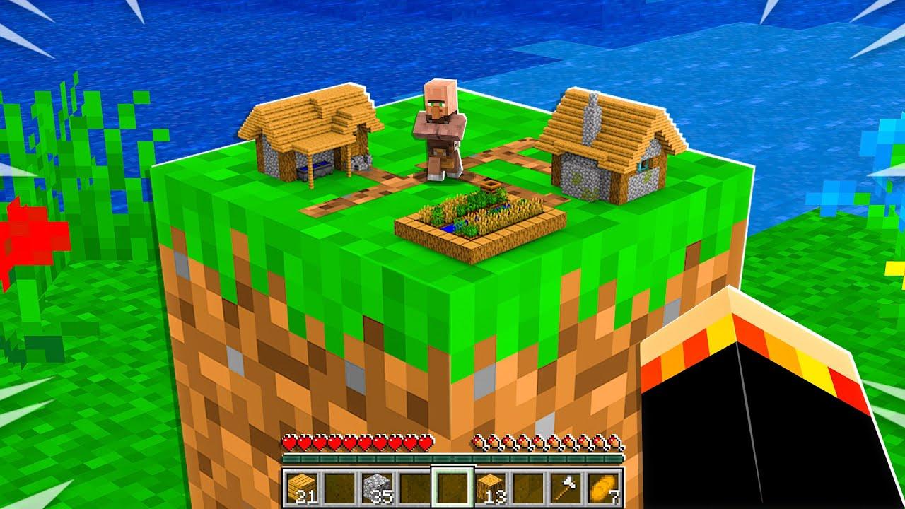 Download I Found the World's SMALLEST Minecraft Village! *tiny*