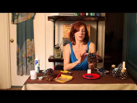 Making-Pine-Cone-Candle-Holders-DIY-Crafts