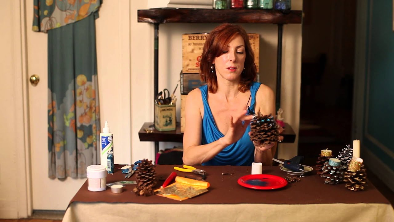 Pinecone Making Pine Cone Candle Holders Diy Crafts Youtube