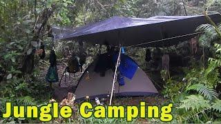Junglecraft Campsite - DIY Jungle shelter for pouring rain