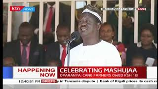 Raila wows Kakamega residents with his mastery of Luhyia language | #MashujaaDay2018