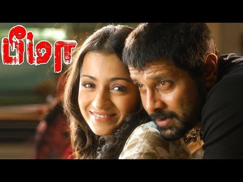 Bheema | Bheema scenes | Vikram romance with Trisha | Vikram fights with Police | Vikram mass scene