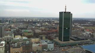 Warszawa z Pałacu Kultury i Nauki.  Panorama miasta