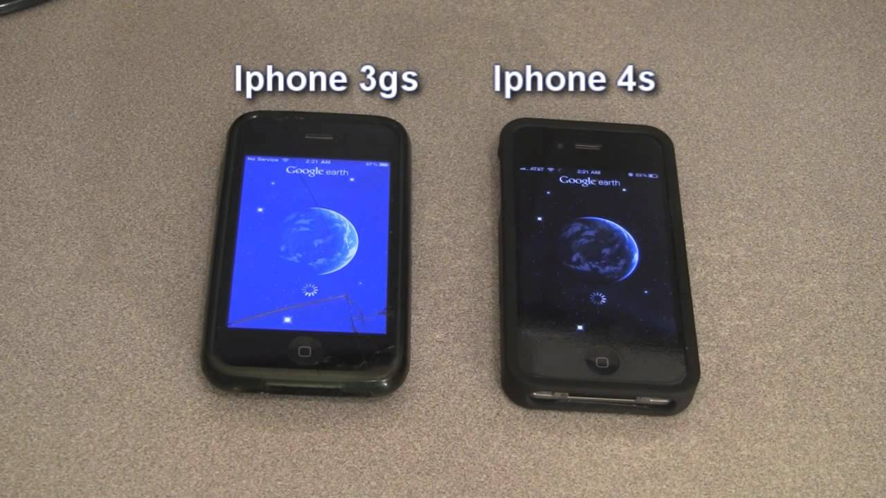 Iphone 3gs Vs Iphone 4s Speed Test Youtube