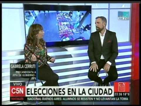 C5N - ELECCION 2015: ENTREVISTA A GABRIELA CERRUTI