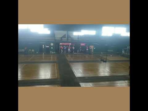 Badminton court maintenance at Karnataka.chennai