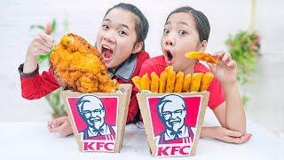 Cách Làm Gà Rán Khổng Lồ DIY Giant Fried Chicken - Trang Vlog