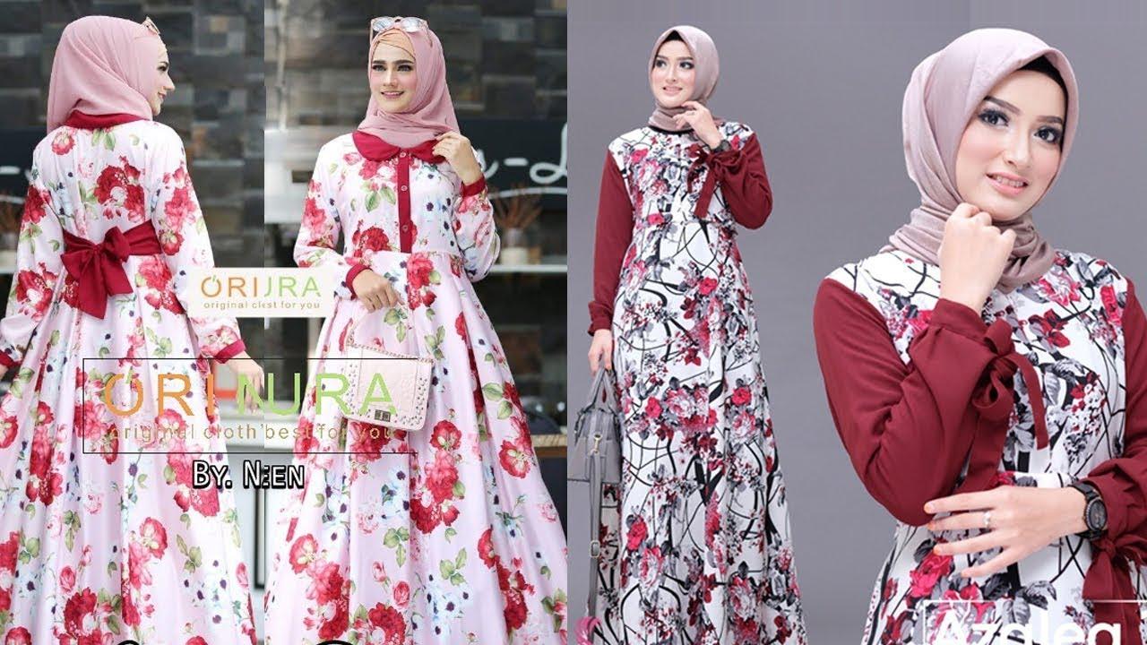 Model Gamis Bunga Terbaru 2019 Ragam Muslim