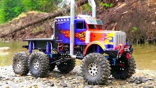 RC ADVENTURES - OPTiMUS OVERKiLL - ROCK WATER RECON - 6x6x6 Semi Truck