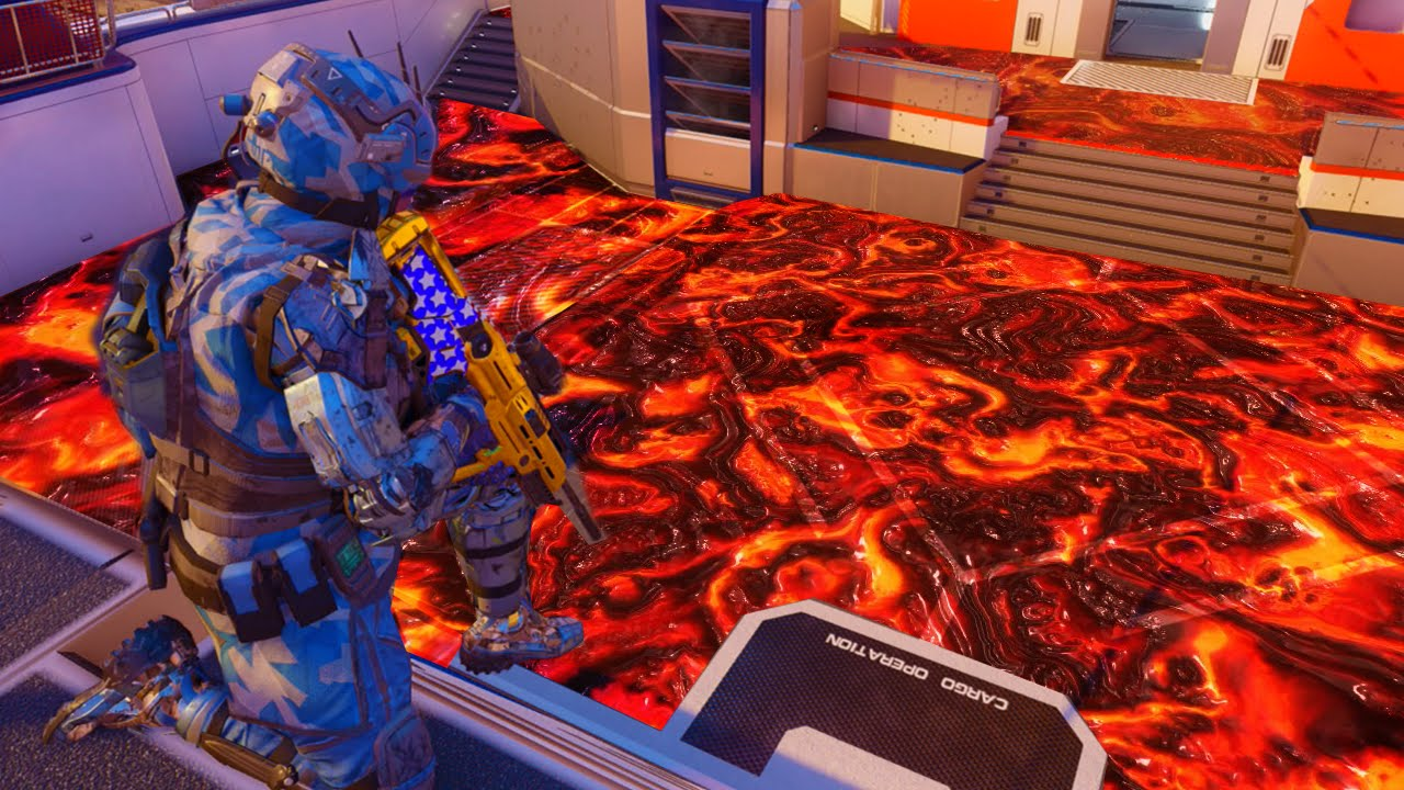 Black ops 3 the floor is lava funny custom game youtube for Lava parquet