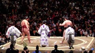 2008年5月11日 朝青龍 - 稀勢の里(座布団投げ)