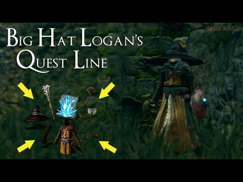 Dark Souls - How To Get All Of Big Hat Logan's Items/Spells & Completing His Quest Line!