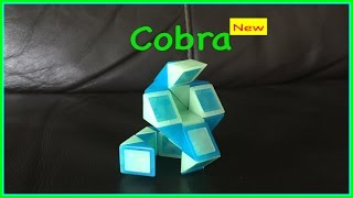 Rubik's Twist Or Smiggle Snake Puzzle Tutorial: How To Make A Cobra Shape - Step By Step