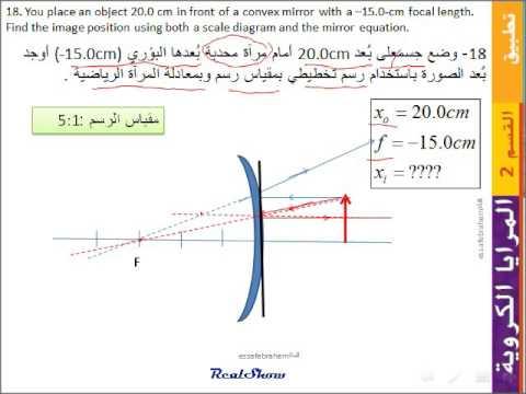 فيزياء Mcgraw Hill مسائل المرايا الكروية 18 22 Youtube