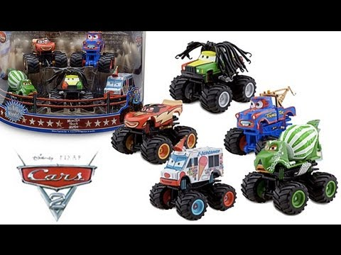 Cars Monster Truck Mater Set Diecast Toy Review Youtube