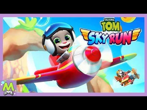 Говорящий Том Воздушный Бег/Talking Tom Sky Run.Гонки на Самолетах в Новой Игре про Тома