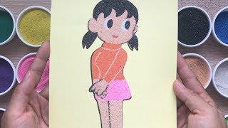 Đồ chơi trẻ em TÔ MÀU TRANH CÁT nàng XUKA bạn gái NÔBITA phim Đôrêmon Toys for kids (Chim Xinh)